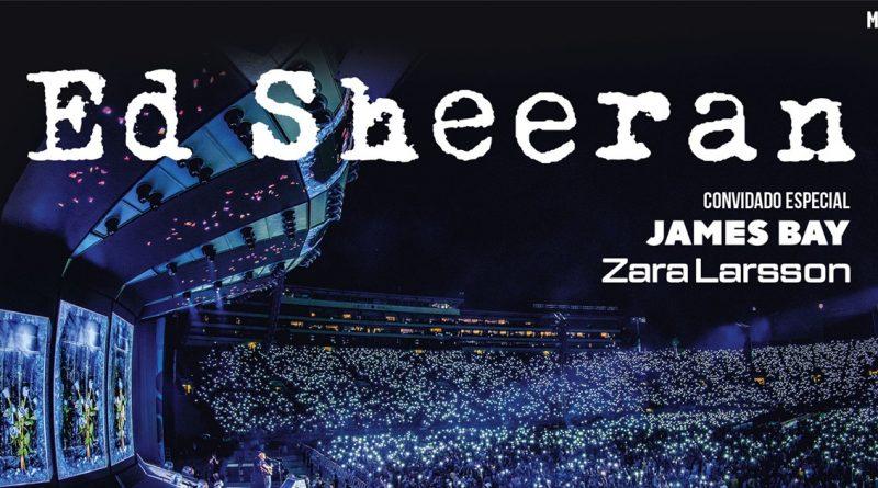 Ed Sheeran em Portugal com James Bay e Zara Larsson! Vai ser épico!