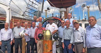 Quase mil pessoas visitaram o navio-escola Sagres no Rio de Janeiro